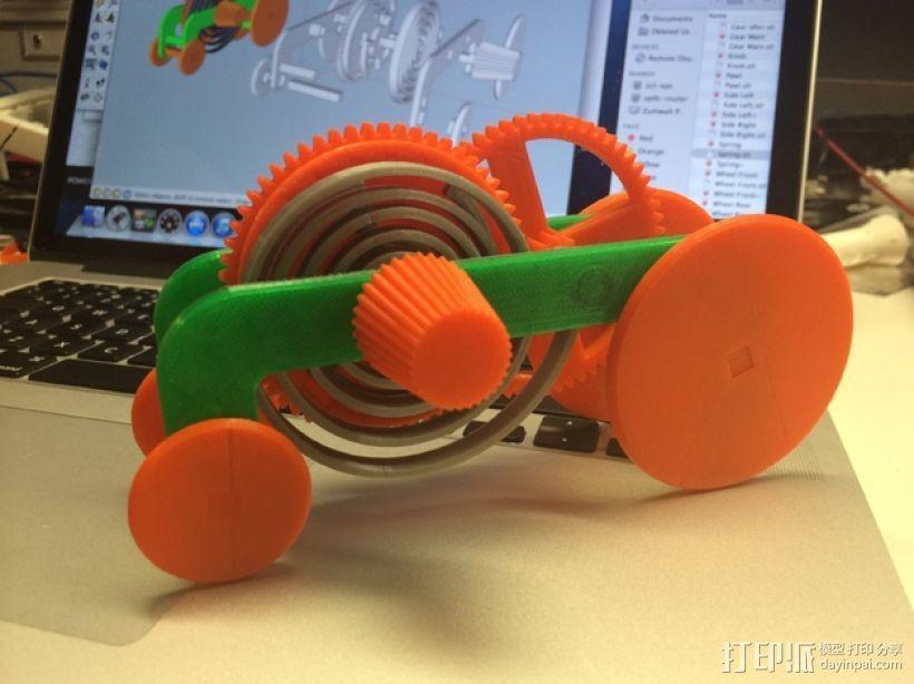 PLA汽车弹簧 滚动底盘 3D模型  图1