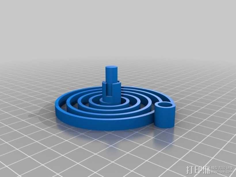 PLA汽车弹簧 滚动底盘 3D模型  图4