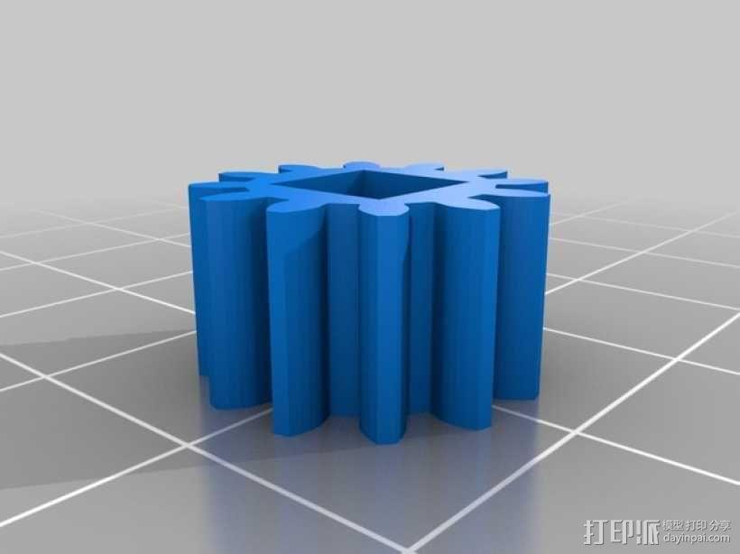 PLA汽车弹簧 滚动底盘 3D模型  图14