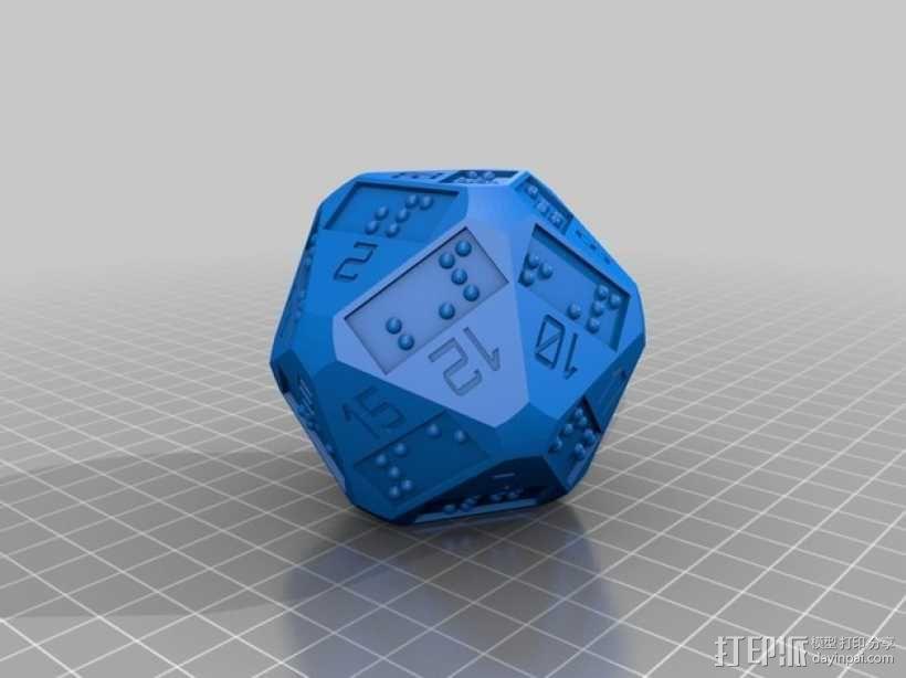 20面骰子 3D模型  图2