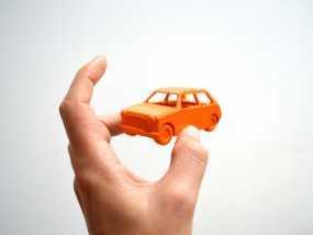 迷你小汽车 3D模型