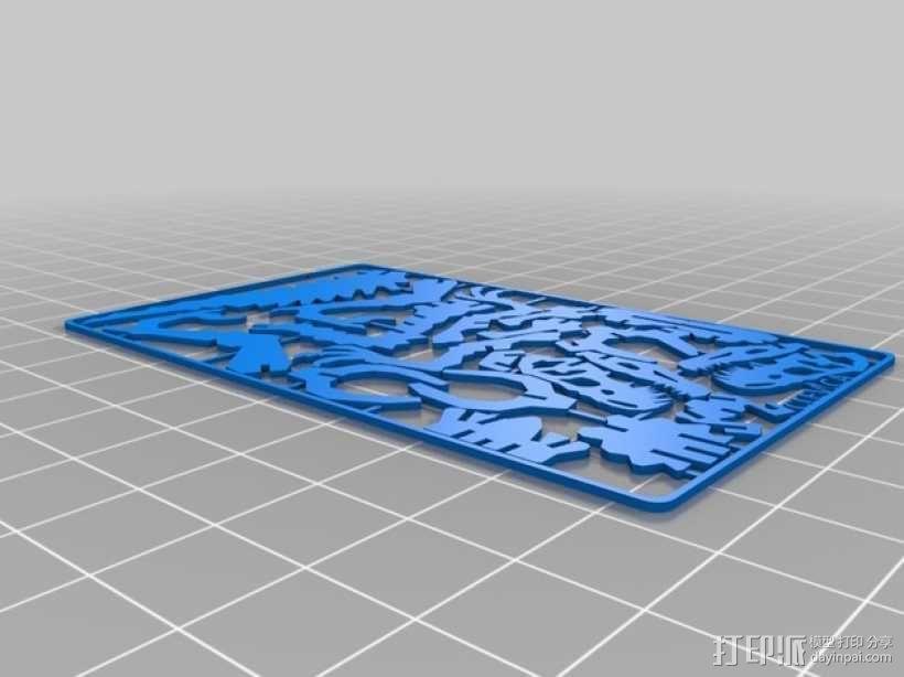 速龙名片 3D模型  图3