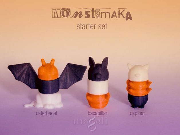 Monstamaka动物玩具套件 3D模型  图3