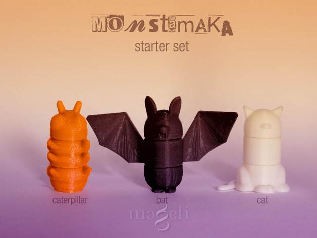 Monstamaka动物玩具套件 3D模型  图1