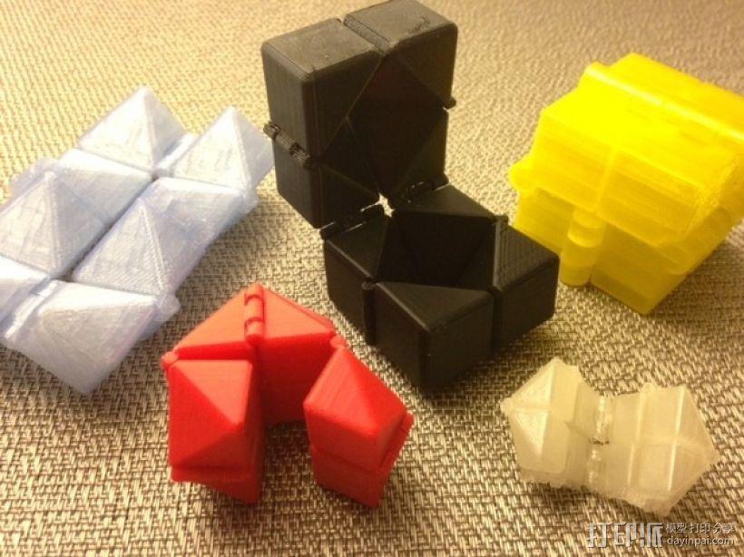 可随意折叠的魔方 3D模型  图1