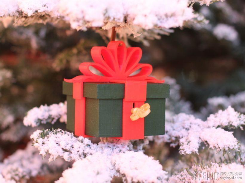 可上锁的礼物盒 3D模型  图1