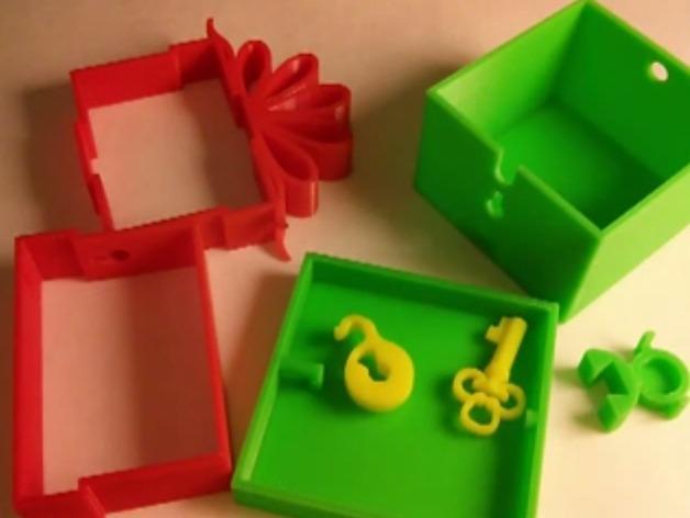 可上锁的礼物盒 3D模型  图3