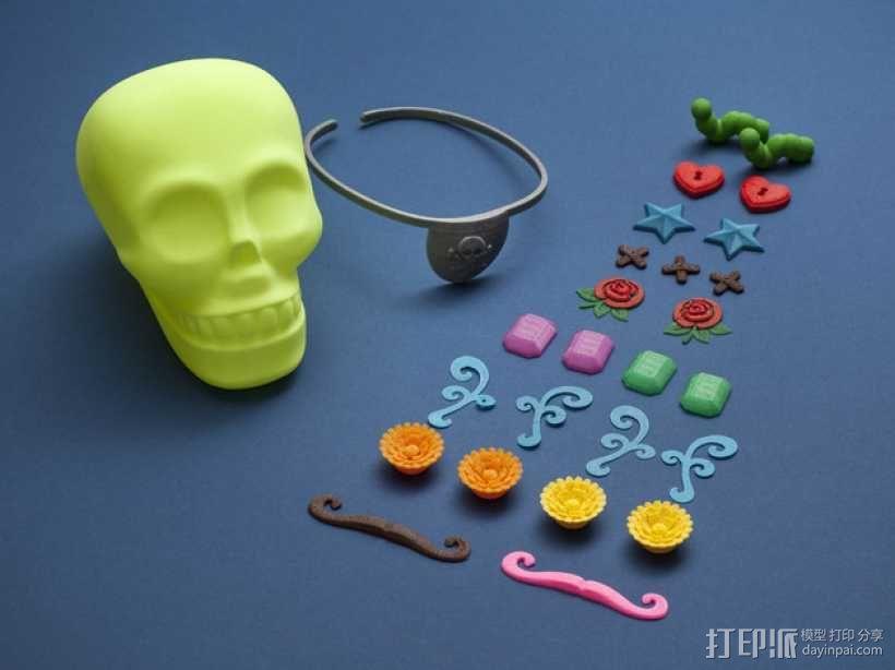个性化骷髅头 3D模型  图1