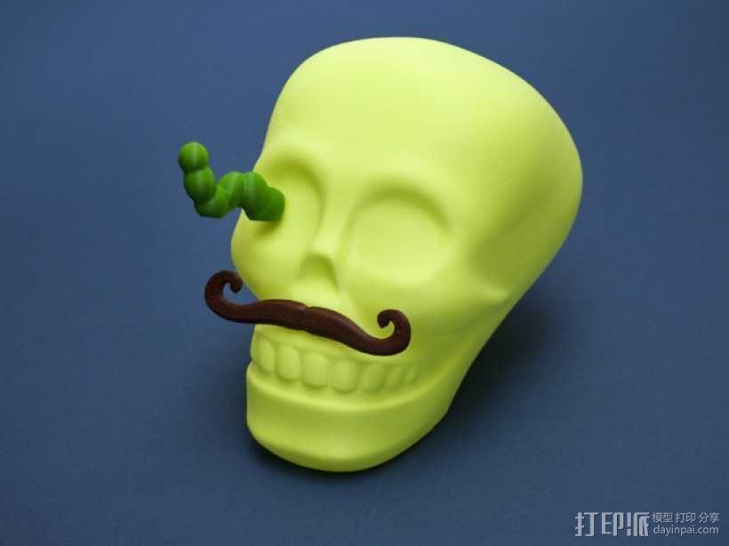 个性化骷髅头 3D模型  图4