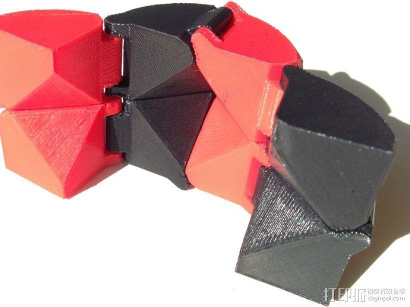 可折叠立方体 3D模型  图1