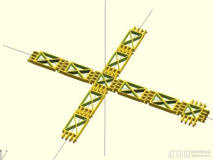 可定制联动装置 3D模型  图3