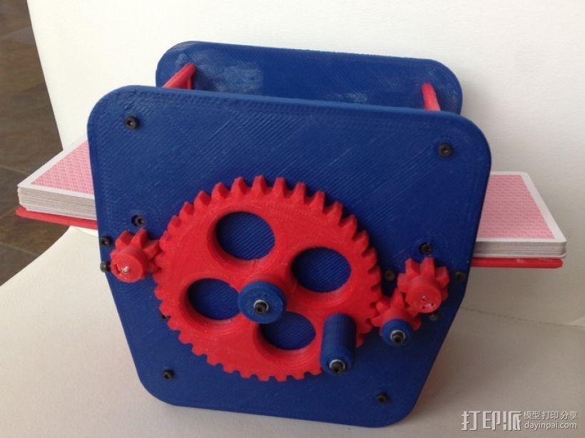 手动洗牌装置 3D模型  图1