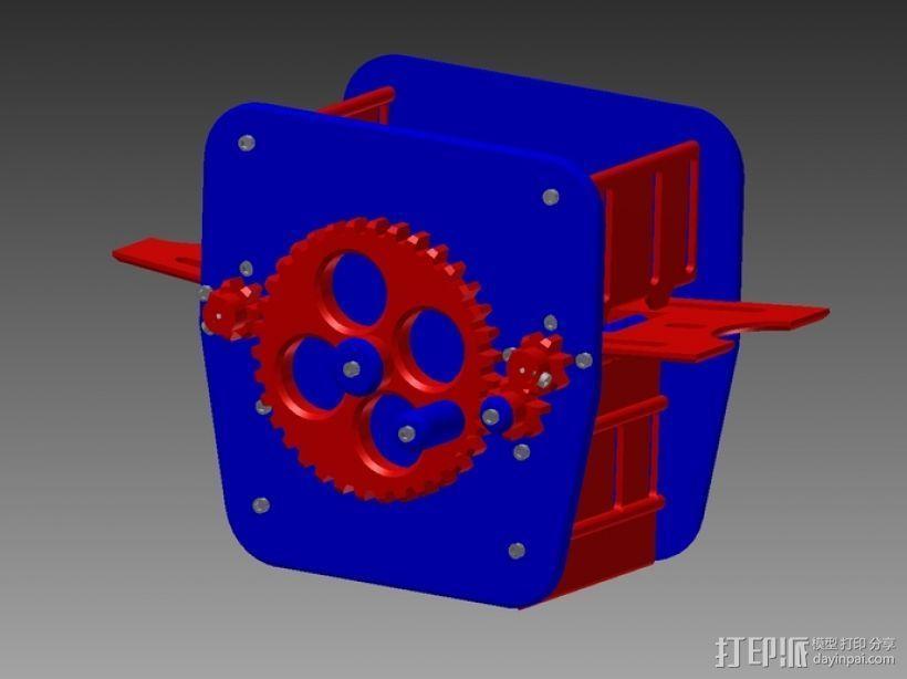 手动洗牌装置 3D模型  图2