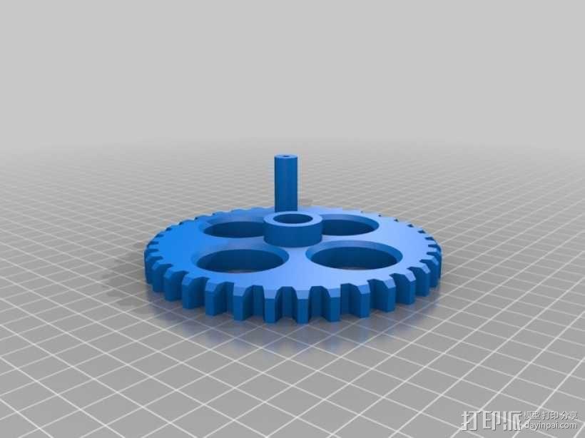手动洗牌装置 3D模型  图5