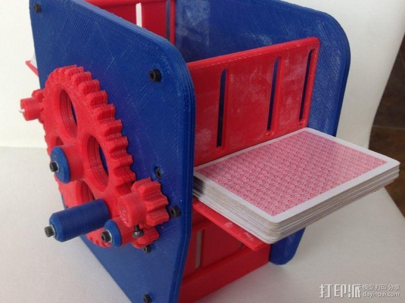 手动洗牌装置 3D模型  图3