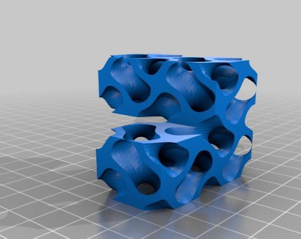 Gyroid Soma立方体拼图 3D模型  图4