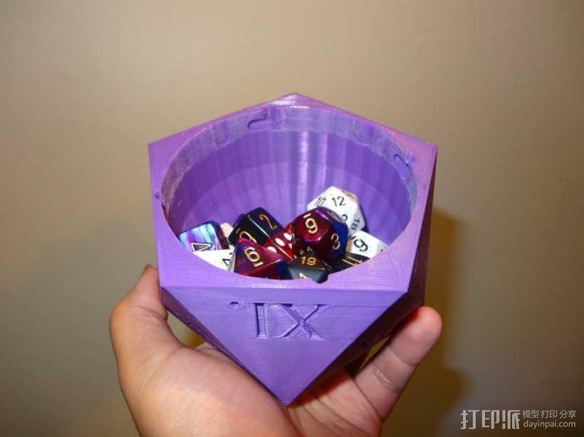 多面体骰子收纳盒 3D模型  图2