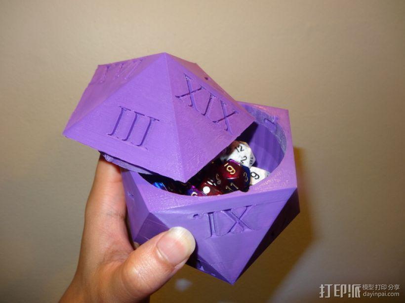 多面体骰子收纳盒 3D模型  图1