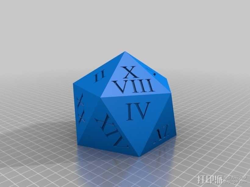 多面体骰子收纳盒 3D模型  图6