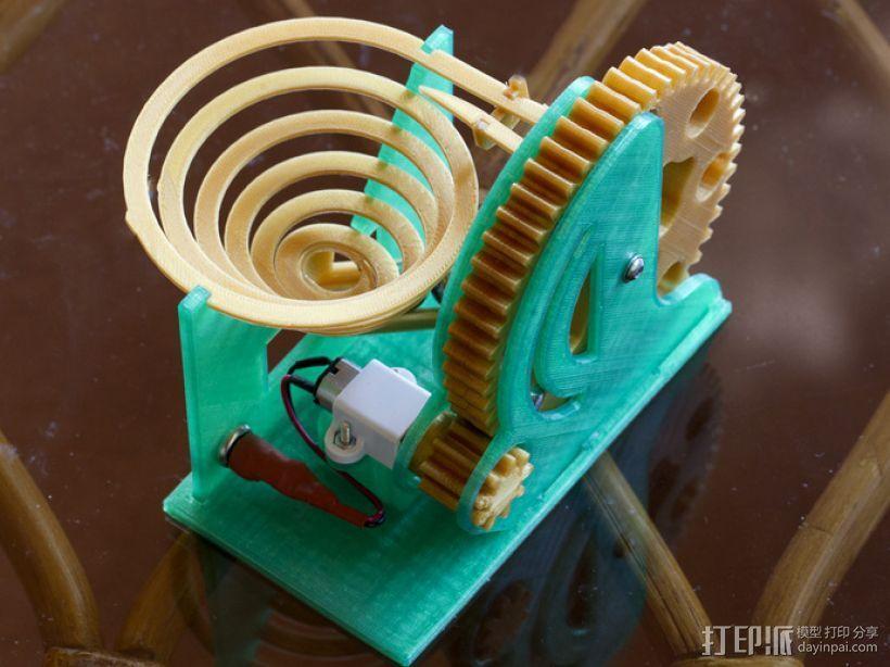 机械化联动装置 3D模型  图1