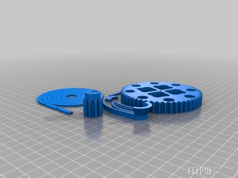 机械化联动装置 3D模型  图2