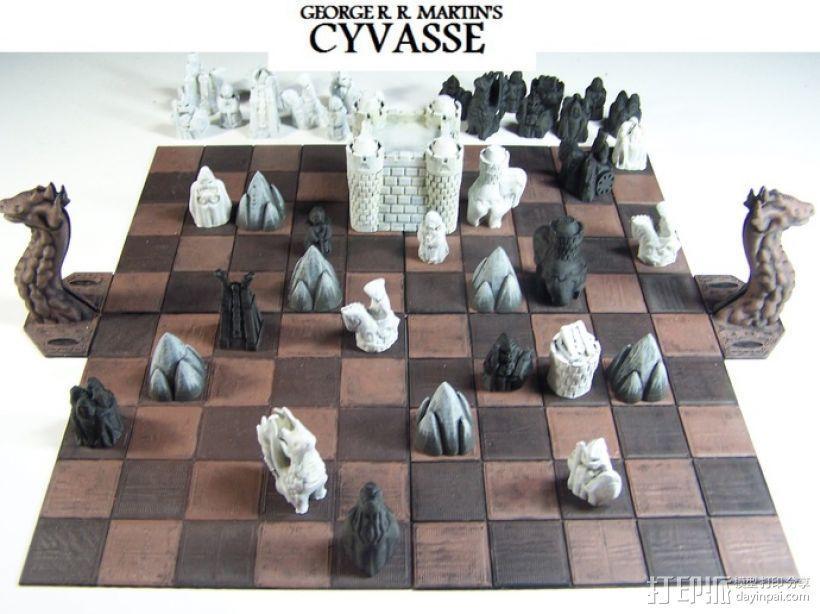 Cyvasse锡瓦斯棋(非官方游戏) 3D模型  图2