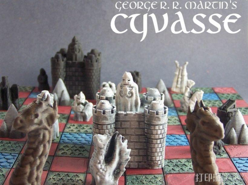Cyvasse锡瓦斯棋(非官方游戏) 3D模型  图1