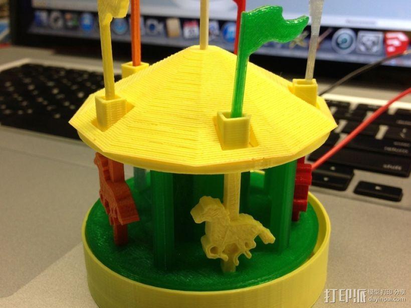 旋转木马 3D模型  图2