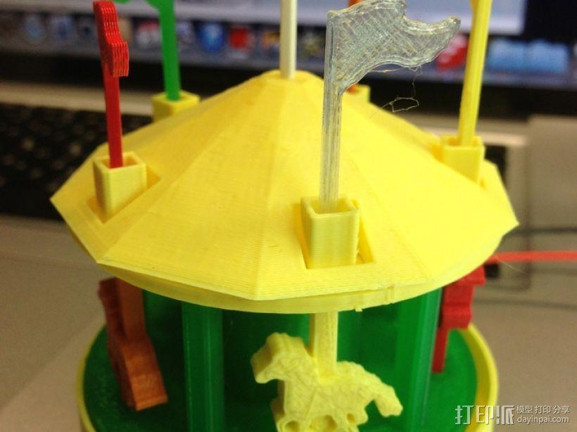 旋转木马 3D模型  图1