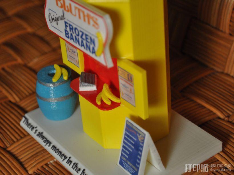 香蕉造型的存钱罐 3D模型  图2
