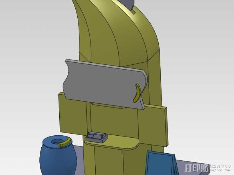 香蕉造型的存钱罐 3D模型  图4