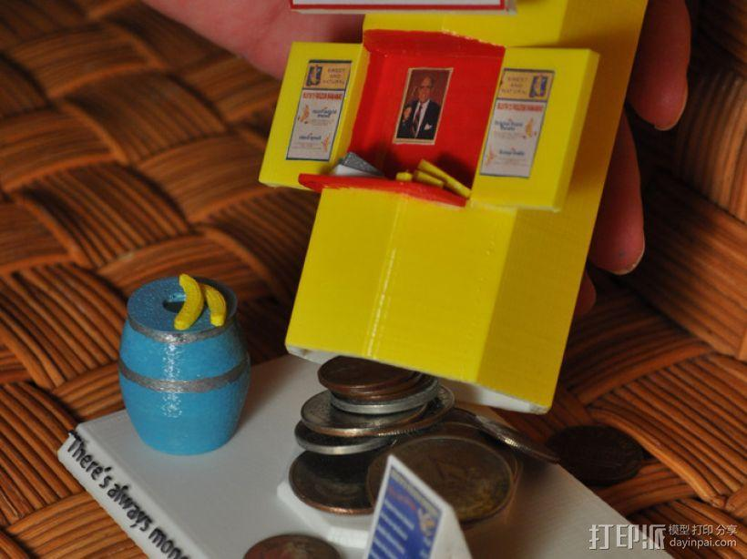 香蕉造型的存钱罐 3D模型  图3