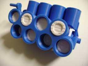 W形发动机 3D模型