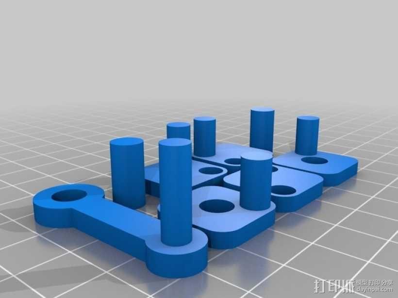 W形发动机 3D模型  图5