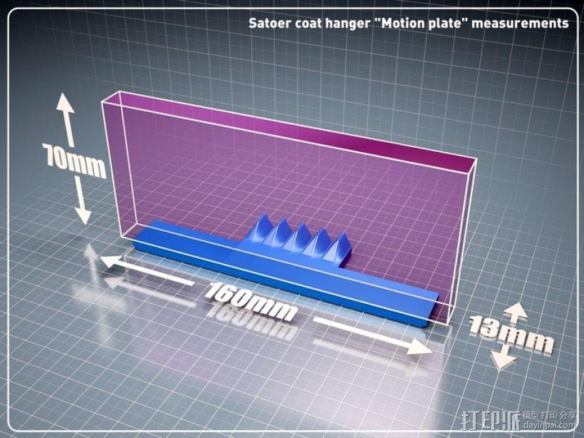 风车形挂钩 3D模型  图4