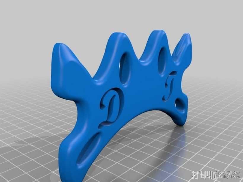 台球靠杆器 3D模型  图2