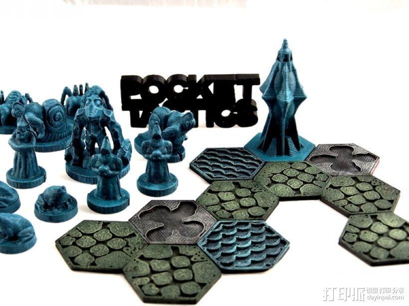 Pocket-Tactics战略棋盘游戏 3D模型  图1