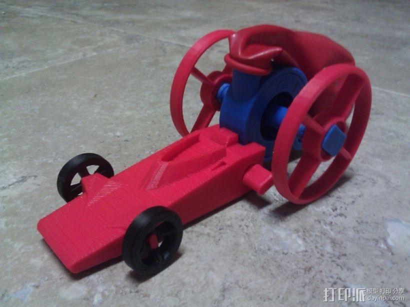 涡轮驱动的小汽车 3D模型  图1