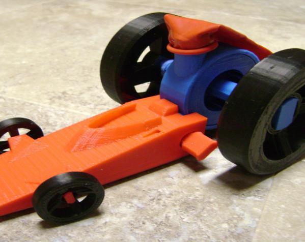 涡轮驱动的小汽车 3D模型  图4