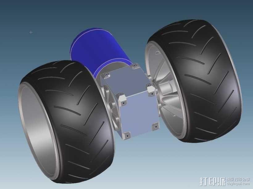 三轮车2040 3D模型  图2