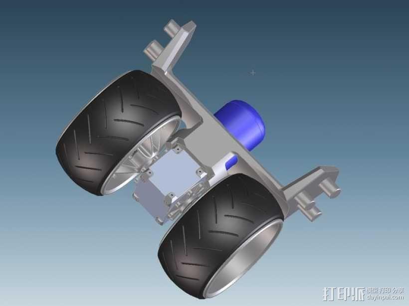 三轮车2040 3D模型  图3