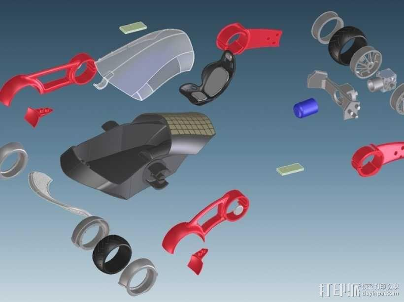 三轮车2040 3D模型  图1