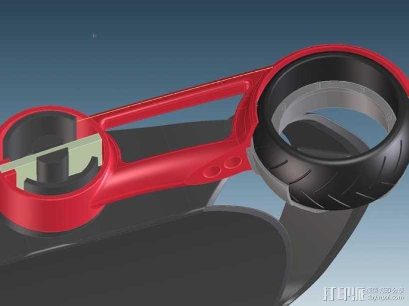 三轮车2040 3D模型  图4