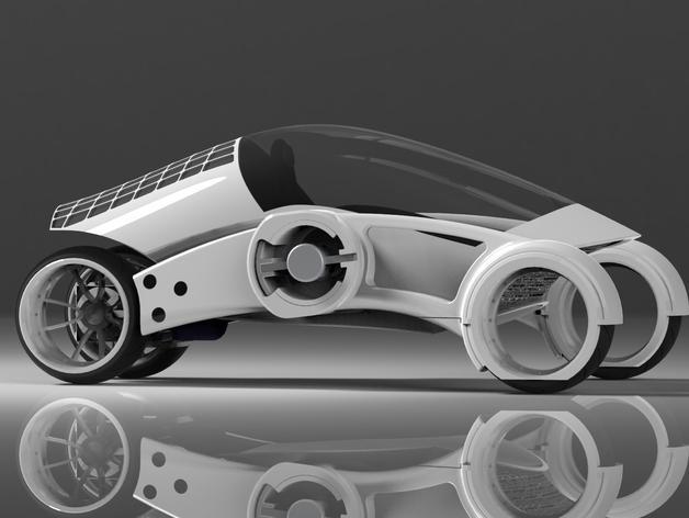 三轮车2040 3D模型  图15