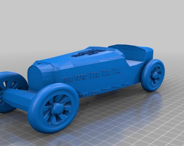 布加迪风格汽车 3D模型  图2