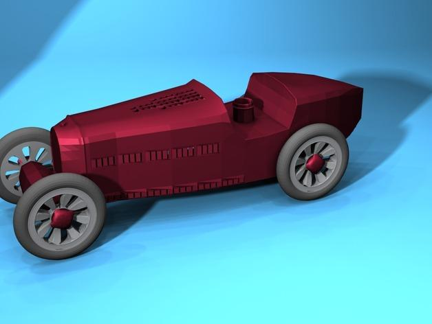 布加迪风格汽车 3D模型  图1