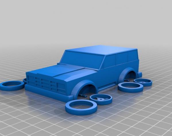 可定制化玩具车 3D模型  图2