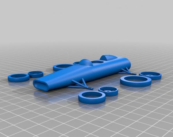 可定制化玩具车 3D模型  图1