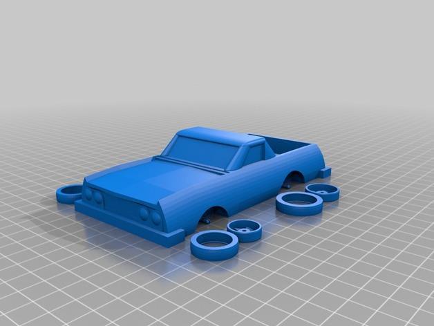 可定制化玩具车 3D模型  图4