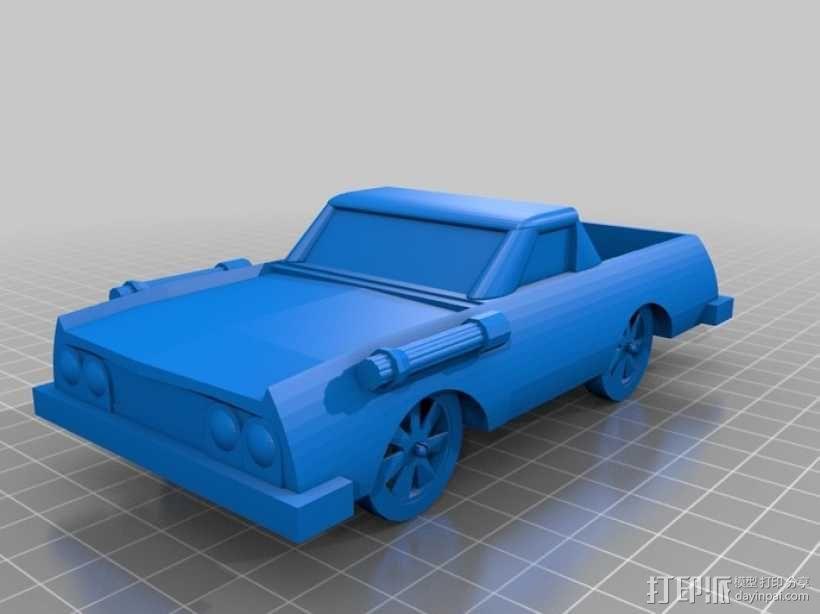 可定制化玩具车 3D模型  图6